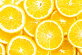 Closeup orange fruit textures and surface for background - Healthy food concept